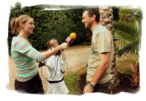 Stephen Huntley from Tropical Landscapes, being interviewed for BBC Essex Breakfast Live Broadcast.